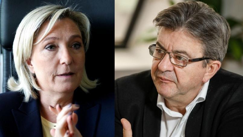 Marine Le Pen et Jean-Luc Mélenchon ont plusieurs propositions économiques en commun, mais aussi de nombreuses divergences.