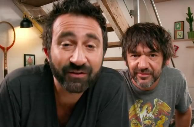 Mathieu Madénian et Thomas VDB dans leur vidéo postée lundi soir sur Twitter.