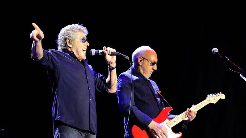Roger Daltrey et Pete Townshend du groupe The Who étaient en concert le 18 juin 2016 au festival de rock Azkena en Espagne.