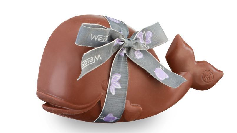 Les moulages (ici, du chocolatier Weiss), sont un classique de Pâques.