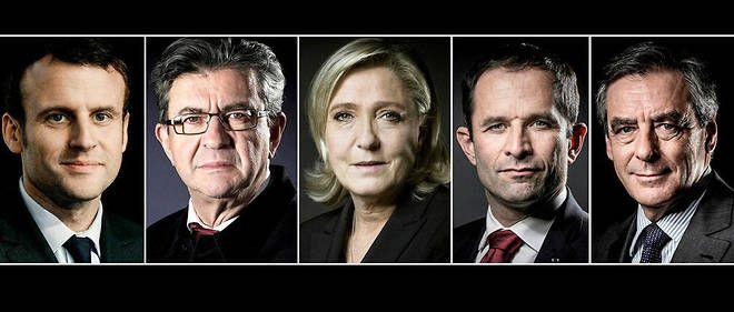 Les cinq candidats annoncés pour le premier grand débat télévisé du 20 mars sur TF1.