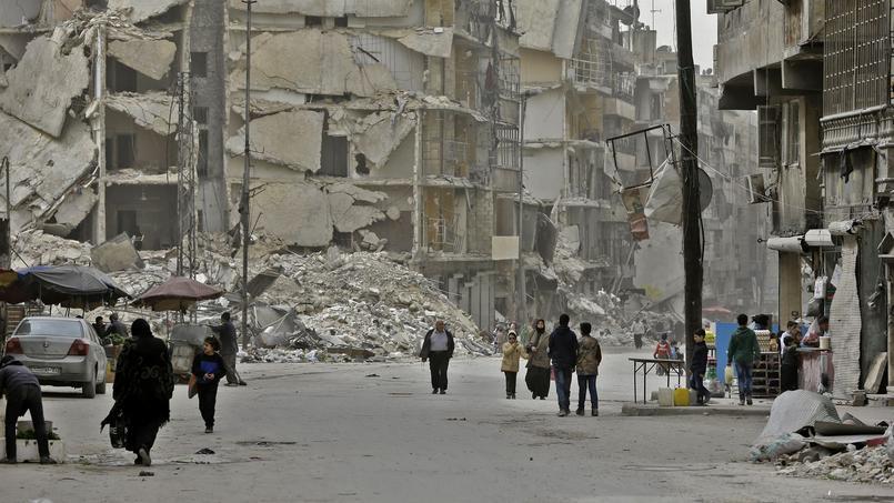 L'Est d'Alep a été repris aux rebelles fin décembre après des mois de bombardements incessants.