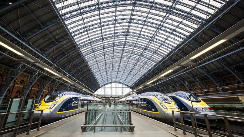 À Londres, la gare internationale de St Pancras.