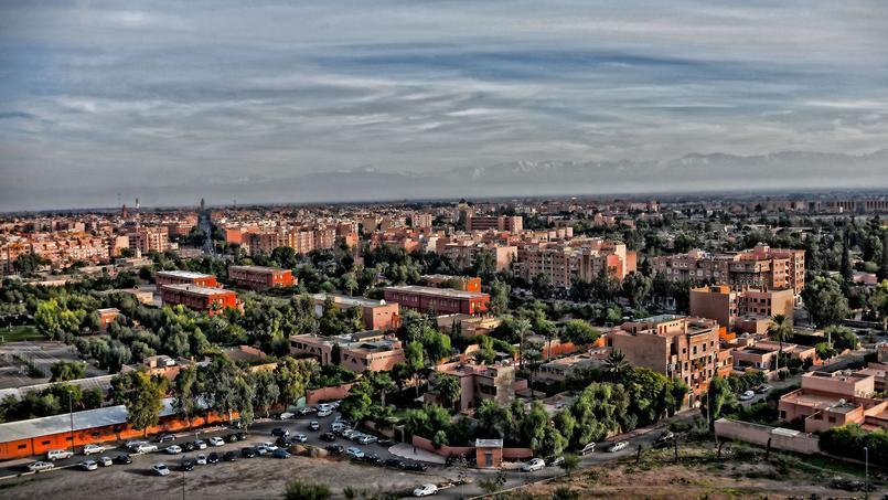 Vue du quartier de Gueliz à Marrakech.