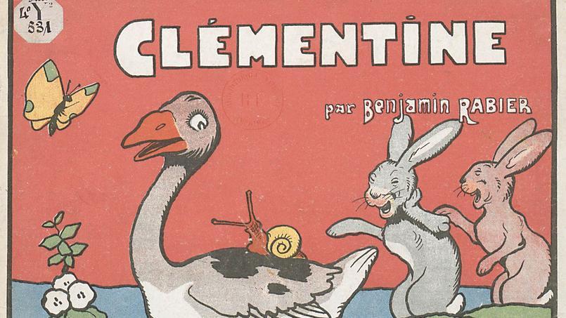 L'album Clémentine par Benjamin Rabier publié en 1928 par Garnier frères (Bibliothèque nationale de France).
