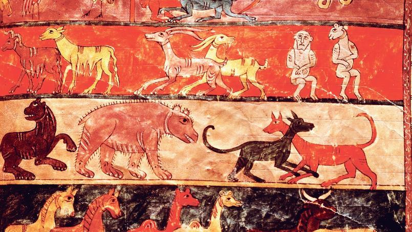 Enluminure représentant l'arche de Noé (vers 970-975).