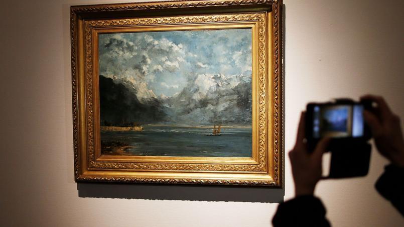 «La Vue du Lac Léman», œuvre oubliée depuis 70 ans dans un musée et découverte récemment à Granville représente la période bleue de l'artiste.