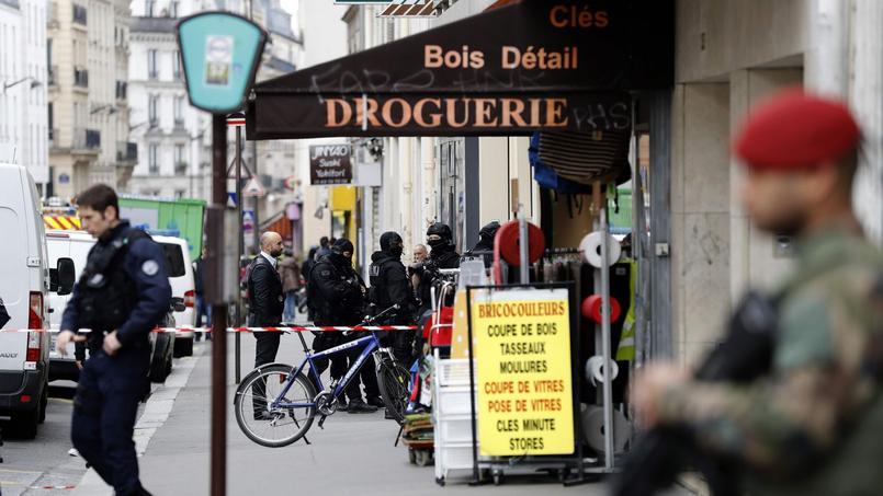 La scène du drame, rue de Montreuil à Paris.