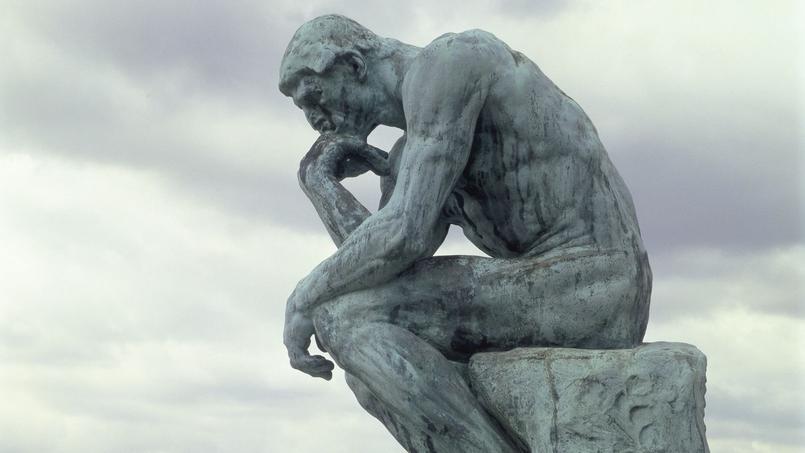 Le Penseur de Rodin dans le jardin de la villa des Brillants à Meudon.