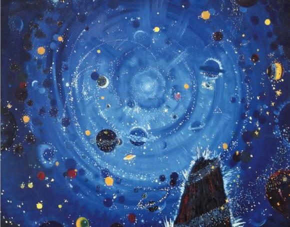Wenzel Hablik, Starry Night (détail), 1909, Itzehoe.