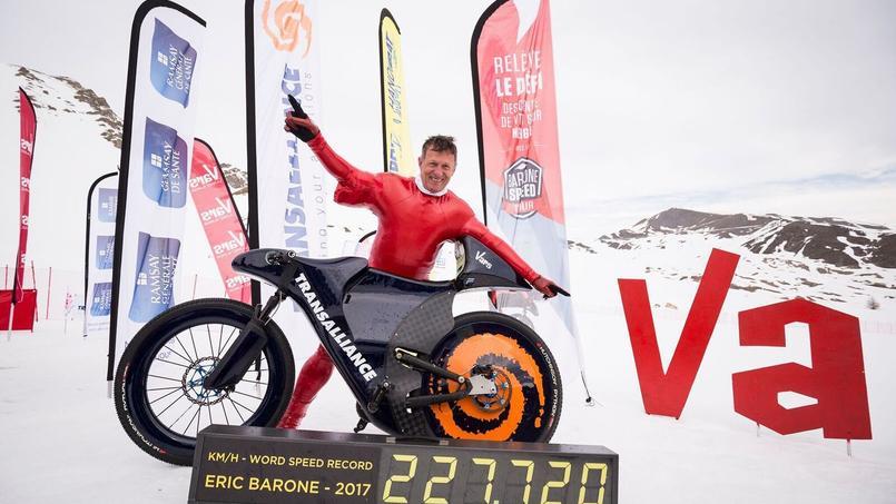 Eric Barone a établi un nouveau record de vitesse avec son VTT.