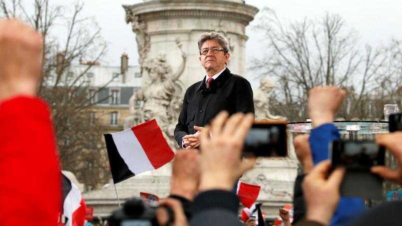 Jean-Luc Mélenchon, samedi place de la République.