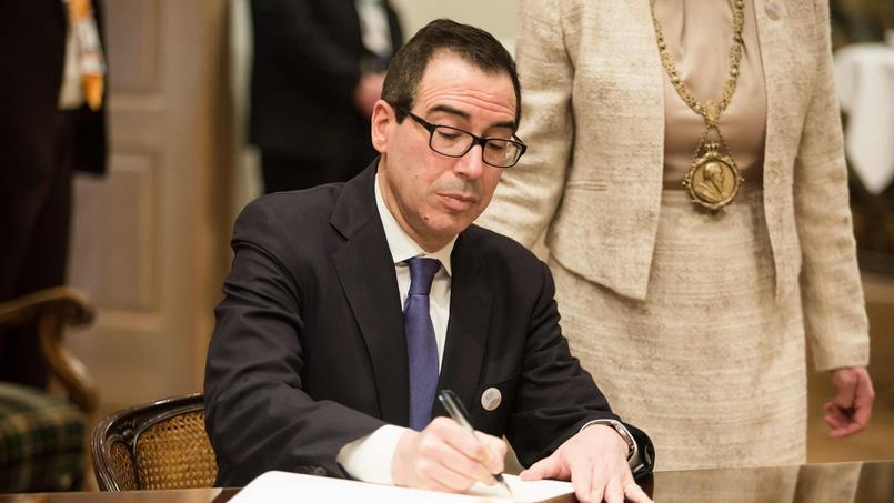Le secrétaire au Trésor Steven Mnuchin vendredi à Baden-Baden.