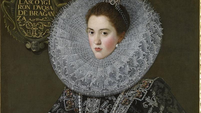 DonaAnade Velasco yGiron, duchesse deBragance (détail), par Juan Pantoja delaCruz, 1603.
