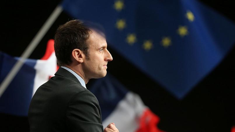 Emmanuel Macron, vendredi à Reims.