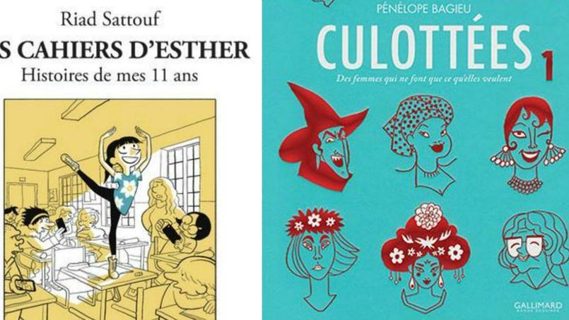 Le deuxième volet des Cahiers d'Esther, Histoire de mes 11 ans, de Riad Sattouf e t  Les Culottéescontinuent de mener la danse dans le classement des ventes de bandes dessinées.