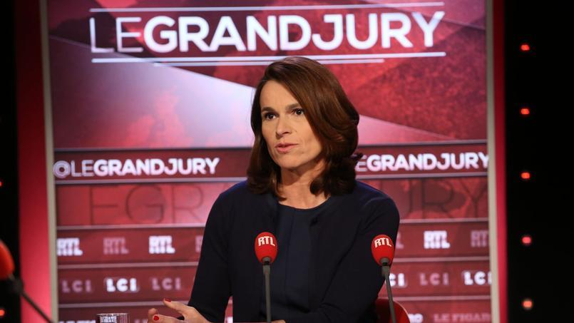 Aurélie Filipetti, dimanche, sur le plateau du «Grand Jury RTL-Le Figaro-LCI».