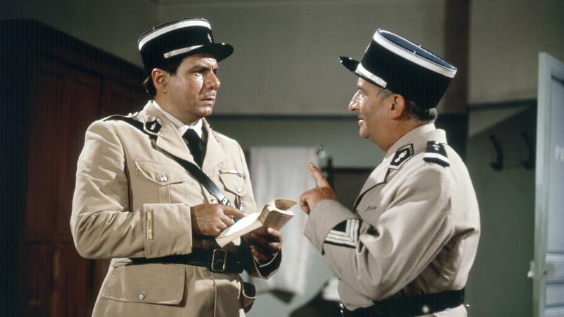 Le gendarme de Saint-Tropez, avec Michel Galabru et Louis de Funes, 1964.