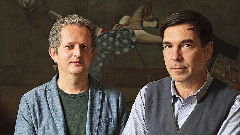 Ivan Pericoli et Benoît Astier de Villatte auteurs de Ma vie à Paris.