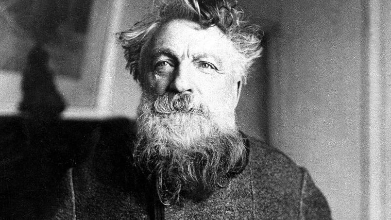 Le sculpteur Auguste Rodin (1840-1917).