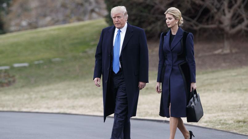 Donald Trump et sa fille Ivanka, le 1er février.