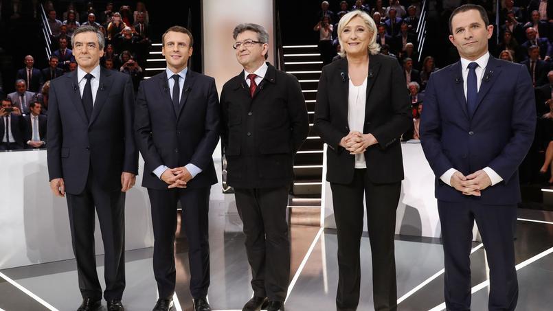Cinq des onze candidats à la présidentielle étaient présents lors du premier débat sur TF1.