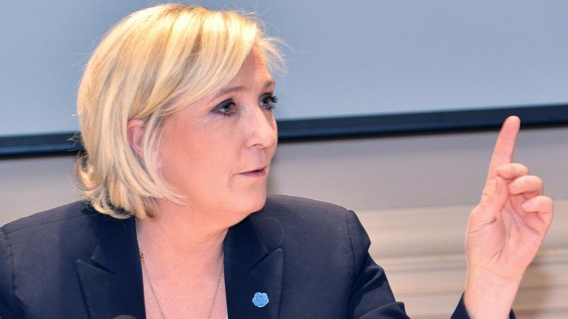 Marine Le Pen, candidate à l'élection présidentielle