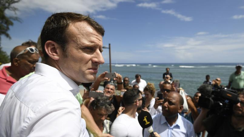 Emmanuel Macron à La Réunion, le 25 mars 2017.