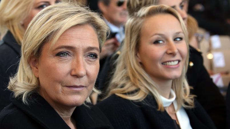 Marine Le Pen et Marion Maréchal-Le Pen à Nice, le 15 octobre 2016.
