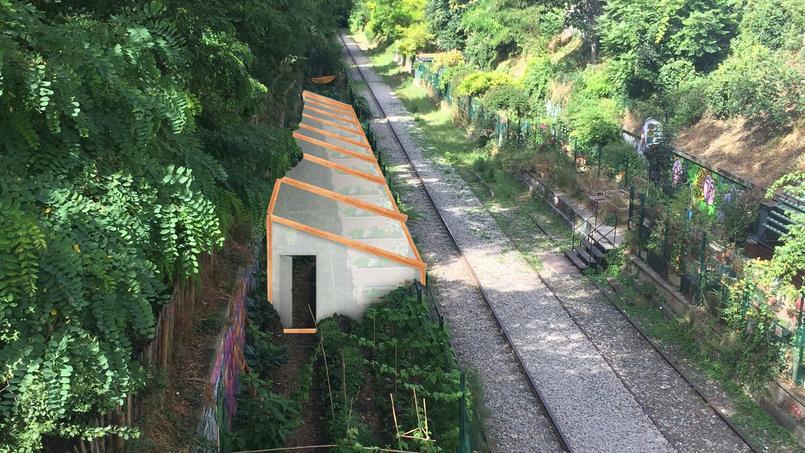 Le long des voies abandonnées delapetite ceinture, le potager de laRecyclerie (XVIIIe.)