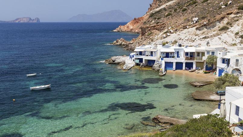 Une crique idéale, sur l'île de Milos.