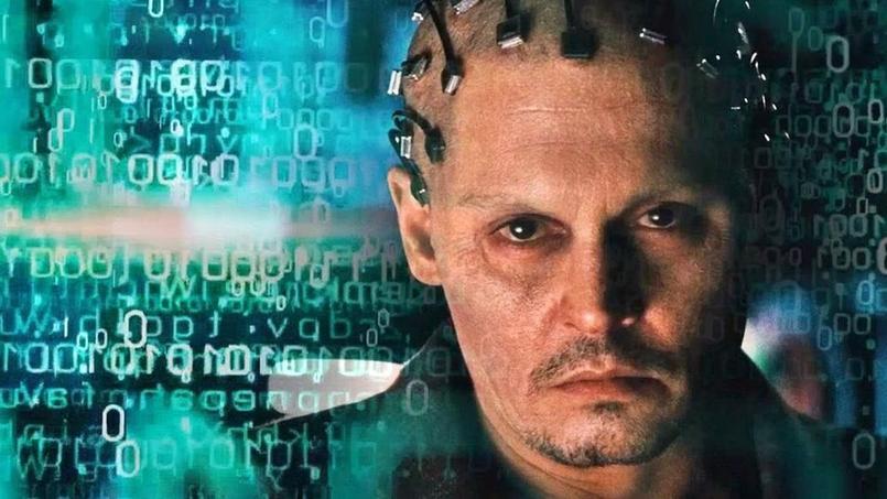 Dans le film Transcendance, l'esprit d'un scientifique transhumaniste est transféré sur un ordinateur quantique qui devient un être immatériel omnipotent.