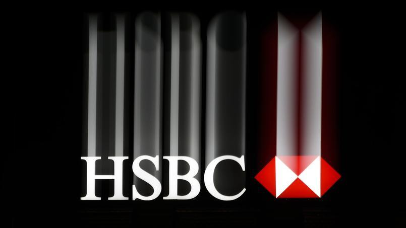 Le logo d'une banque HSBC, à Genève.