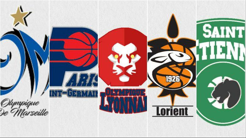 Les logos de la Ligue 1 détournés avec le style NBA