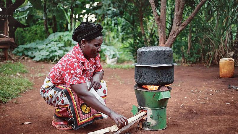 À 10.000kilomètres de là, près d'Embu, au pied du mont Kenya, Janet, comme 60.000autres mères de famille, cuisine sur un foyer amélioré baptisé hifadhi.