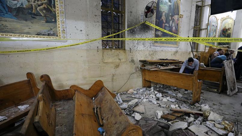 L'explosion est survenue peu avant 10 heures dans l'église Mar Girgis de Tanta, en pleine célébration des Rameaux.