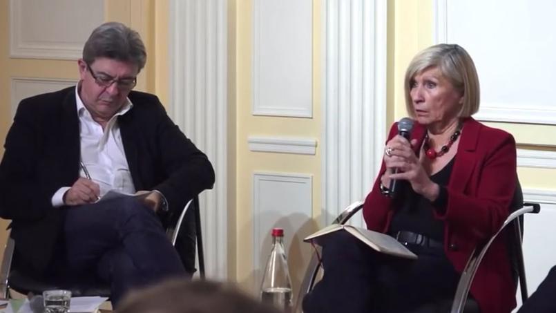 Jean-Luc Mélenchon et Chantal Mouffe le 25 octobre 2016 à Paris.