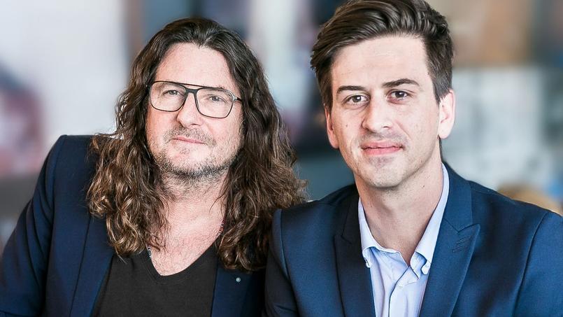 Jacques-Antoine Granjon (à gauche), PDG de vente-privee.com, et Martin Ohannessian, cofondateur du Petit Ballon.