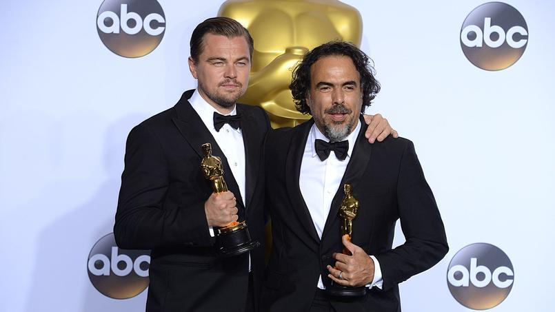 Leonardo DiCaprio et Alejandro González Iñárritu à la sortie de la cérémonie des Oscars