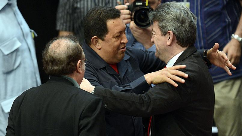Jean-Luc Mélenchon au Venezuela avec Hugo Chavez, en 2012
