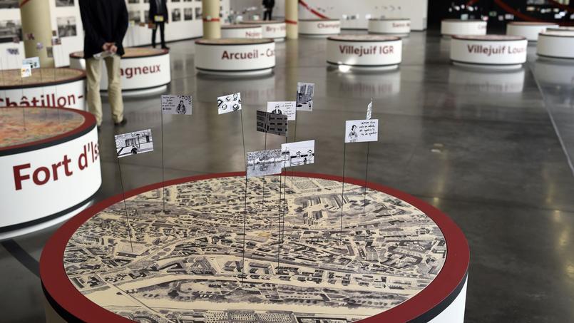 Juin 2015, lors de l'inauguration de l'exposition «Les passagers du Grand Paris Express».