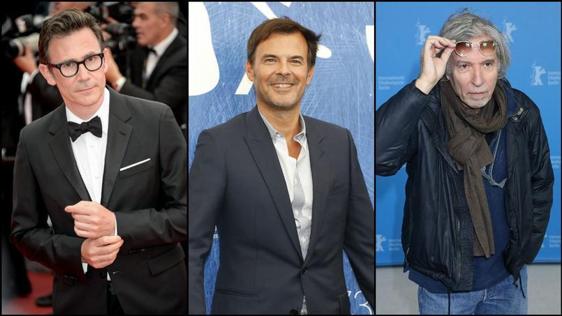 De gauche à droite: Michel Hazanavicius, François Ozon et Jacques Doillon, les trois réalisateurs français en compétition à Cannes 2017.