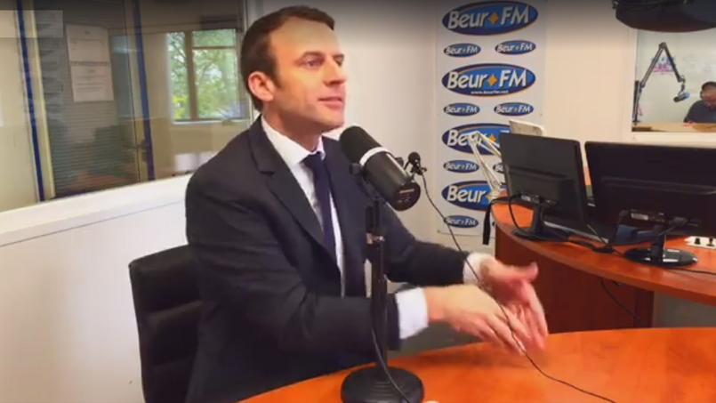 Emmanuel Macron sur BEUR FM