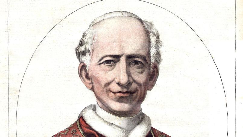 Le pape Léon XIII, de son vrai nom Vincenzo Gioacchino Pecci, en premiere page du «Petit Journal» du 15 aout 1891.