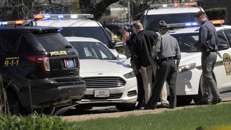La police d'Etat Pennsylvanienne enquête sur le lieu où Steve Stephens aurait assassiné un homme de 74 ans .