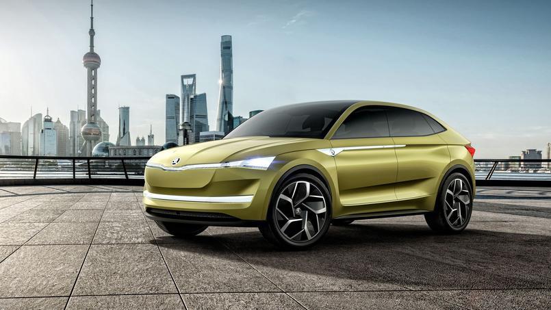 Comme Volkswagen, Skoda a choisi un SUV coupé pour servir d'écrin à sa chaîne de traction électrique.