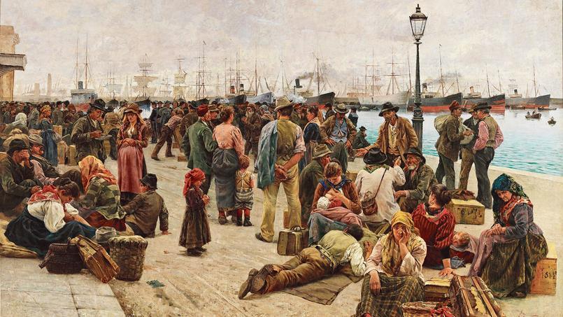 Angelo Tommasi, Gli Emigranti, 1896.