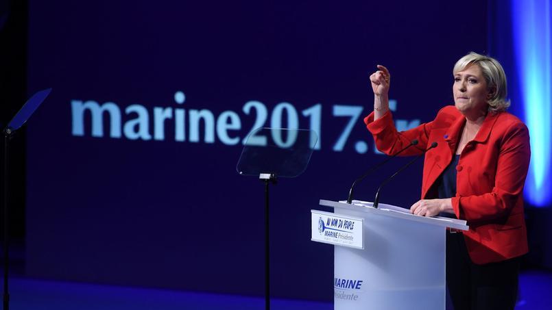 Marine Le Pen, présidente du FN