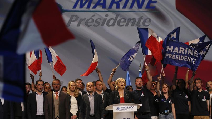 Marine Le Pen lors de son meeting à Marseille.