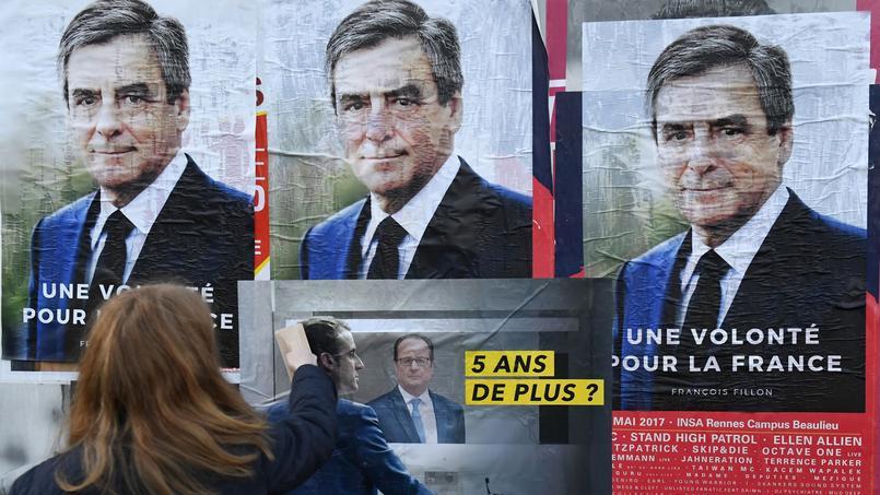 François Fillon et Emmanuel Macron, candidats à l'élection présidentielle